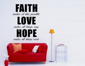 Faith , Love, Hope quote