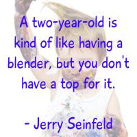 Two Year Old Like a Blender Funny Quote