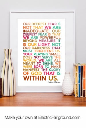 Marianne Williamson Framed Quote