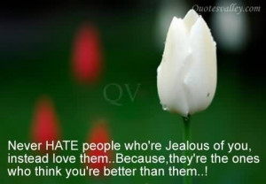Never Hate People Who're Jealous Of You~Wise Quotes