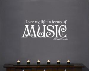 Vinyl-Wall-Decal-Art-Quote-Saying-Decor-Life-in-Music-Albert-Einstein