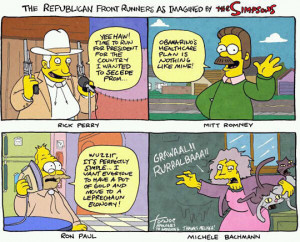 Funny photos funny Republicans The Simpsons look alikes