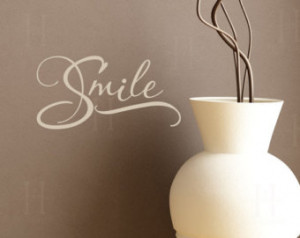 Smile Wall Decal Words vinyl graphi c sticker lettering, Photo walls ...