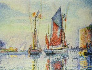paul signac les thoniers en partance concarneau description paul ...
