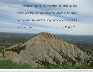 Moving Mountain Bible Quote