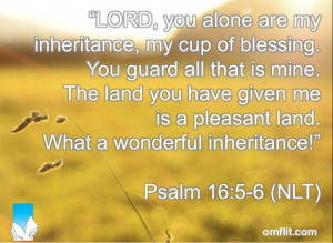 LORD, you alone are my inheritance, my cup of blessing. You guard all ...