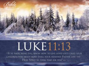 Luke 11:13 – Holy Spirit Papel de Parede Imagem