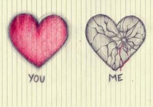 broken, broken heart, heart, hearts, pink, you