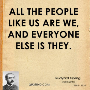 All the people like us are we, and everyone else is They.