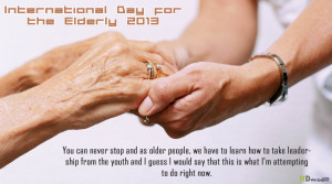 International Day for the Elderly 2013