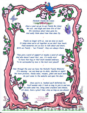 Nicholls Family Reunion poem