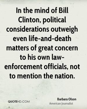 Barbara Olson Death Quotes