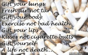 Saying to motivate smokers to