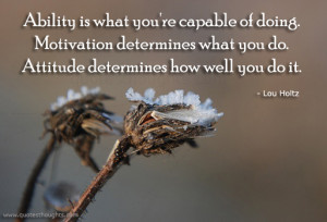 Attitude Quotes-Thoughts-Lou Holtz-Ability-Motivation-Best Quotes