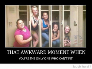 Awkward moment when you're the only one.