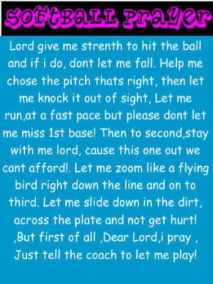 prayer of a softball player Image