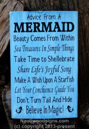Mermaid Poem Quote Mermaid Decor Beach Bathroom Welcome To Nauti