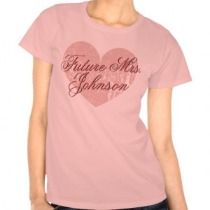Pink Future Mrs Shirt for soon to be bride
