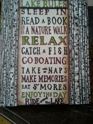did this for my cabin! HH birch# fishing quotes#
