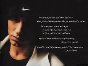 Music Quotes Eminem Wallpaper with 1024x768 Resolution