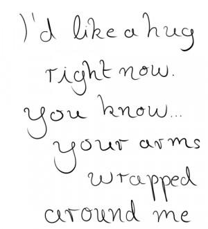... hug love quotes hugging love quote handwritten hand writing love
