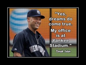Baseball Poster Derek Jeter Yankees Photo Quote Wall Art Print 5x7 ...