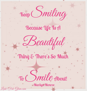 Viewing Gallery For - I Smile Because Quotes