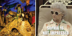 Sophia Petrillo from The Golden Girls is Not Impressed