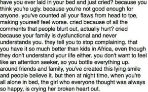 Quotes About Crying Yourself To Sleep Crying yourself to sleep