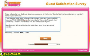 Dunkin Donuts Suicide Survey