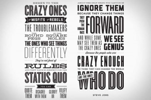 Heres To The Crazy Ones Poster