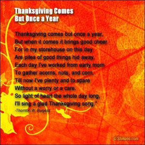 Thanksgiving Poems Words