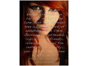 redhead sayings and quotes | ... Sayings http://lifeofjourney ...