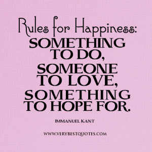 rule for happiness quotes