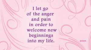 Positive affirmation about letting go of the past and looking forward ...