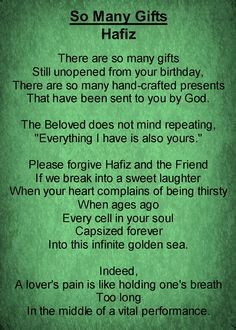 hafiz the sufi poet more quotes gift quotations inspiration art ...