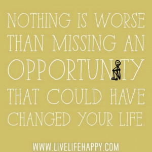 Lost opportunities