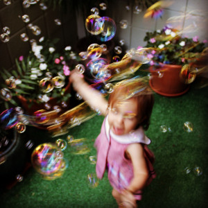 Blowing Bubbles on the 4th of July