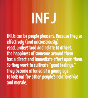 Infj infjs can be people pleasers. because they so effectively (and ...