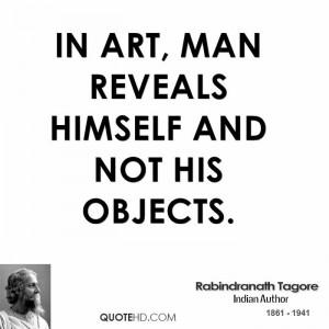 Rabindranath Tagore Art Quotes