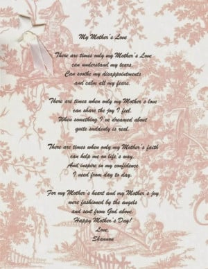 daughter poems from a mother
