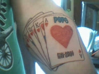Hustler Gambling Arm Tattoo - Tattoosdeal.com