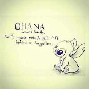 Wise family ohana lilo and stitch quote