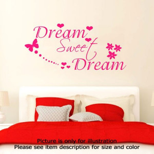 dream-sweet-dream-wall-stickers-quote-vinyl-decal-mural-bedroom-wall ...
