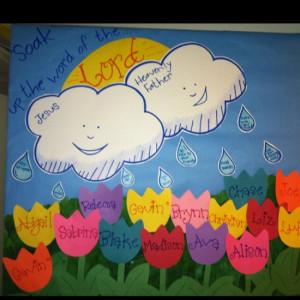April Bulletin Board For Sunday School