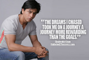 Shahrukh Khan Inspirational Bollywood Picture Quote Success