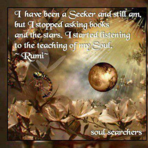 have been a seeker and still am but I stopped asking books and the ...