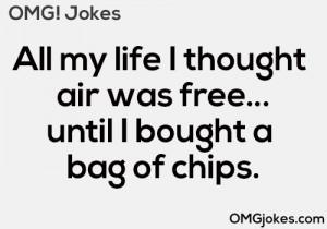 LOL funny food humor jokes joke chips air