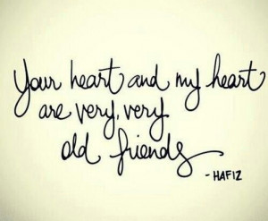 Hafiz quote #oldfriends