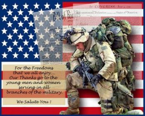 ... is one of your favorite Patriotic Quotes that praises our military